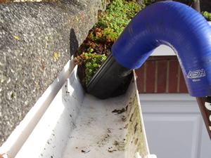 Gutter cleaning vacuum service